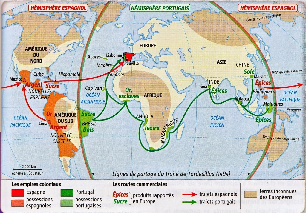 empires coloniaux espagnes portugal