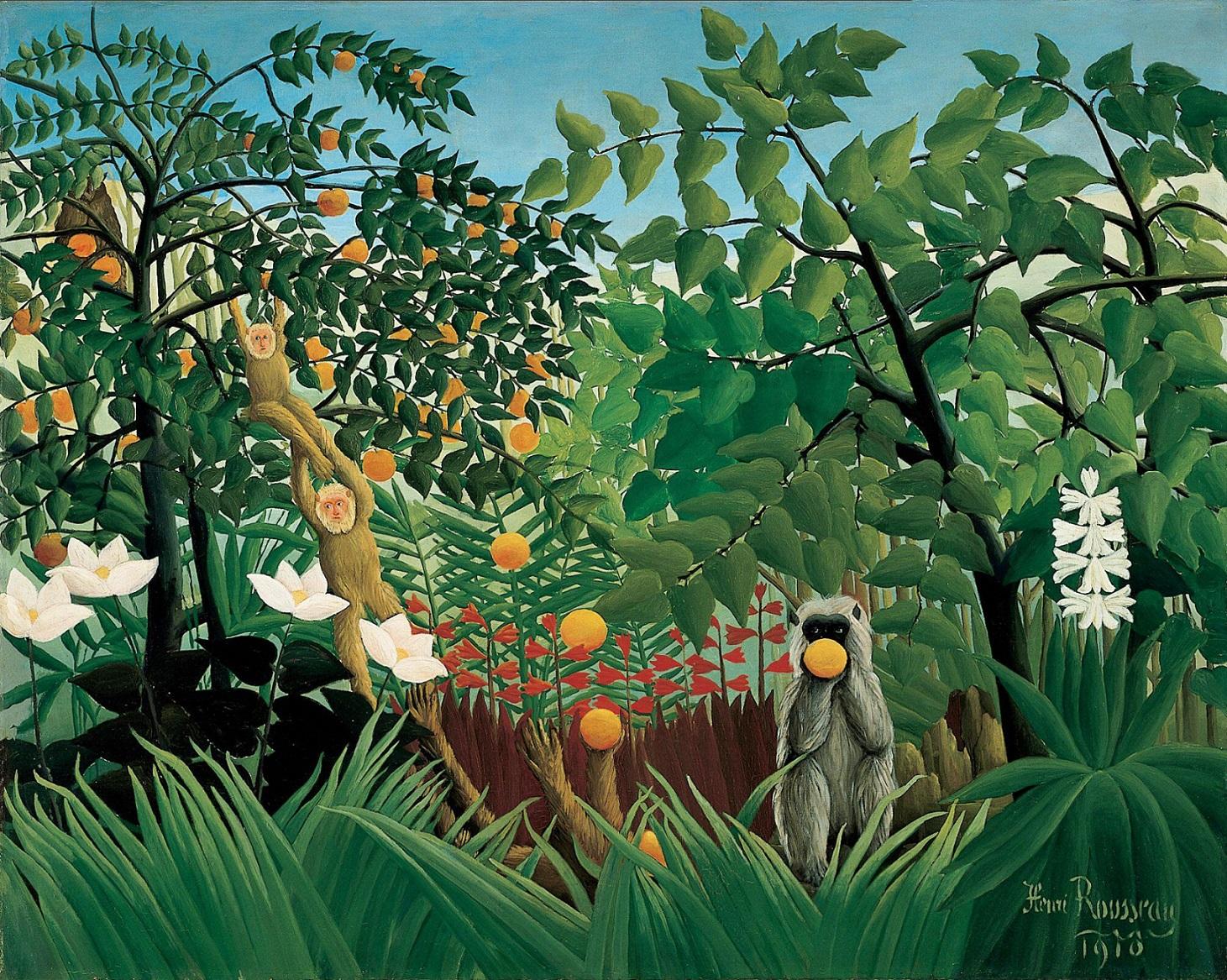 Henri-Rousseau-Douanier-Rousseau-Paysage-Exotique-avec-des-singes-jouant-1024x817