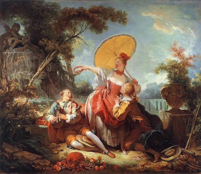 Jean Honore Fragonard - The musical contest - (MeisterDrucke-29977)