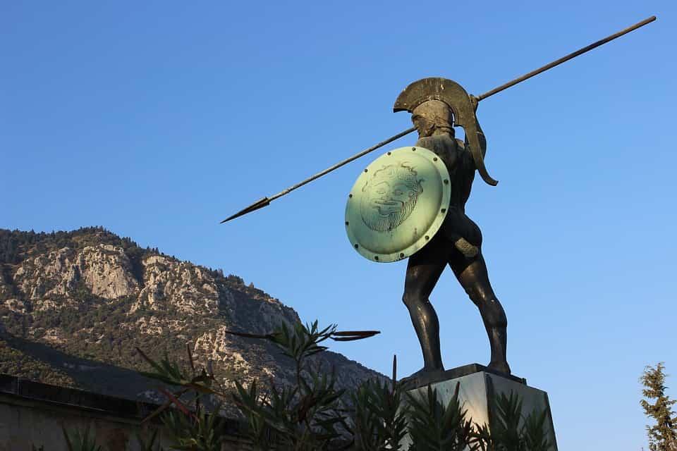 Léonidas_sparte_spartiate_guerrier_300_thermopyles_statue_lance